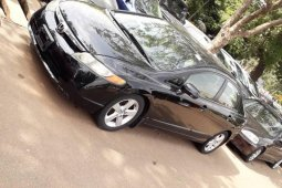 Foreign Used 2006 Black Honda Civic for sale in Lagos.