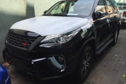Brand New 2020 Black Toyota Fortuner for sale in Lagos.