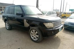 Locally Used 2006 Black Land Rover Range Rover for sale in Lagos.
