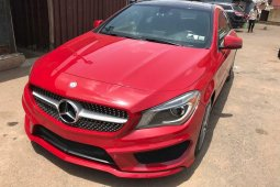 Foreign Used 2014 Red Mercedes-Benz CLA-Class for sale in Ibadan.