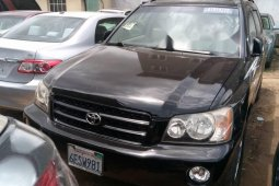 Foreign Used Toyota Highlander 2003 Model Black