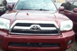 Foreign Used 2007 Maroon Toyota 4-Runner for sale in Lagos.