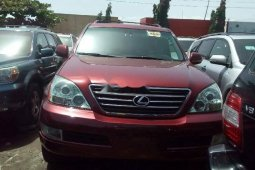 Foreign Used 2008 Maroon Lexus GX for sale in Lagos.