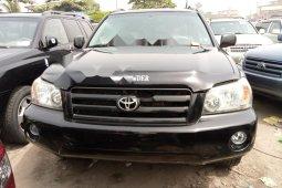 Foreign Used Toyota Highlander 2006 Model Black