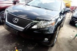 Foreign Used 2010 Black Lexus RX for sale in Lagos.