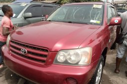 Foreign Used Toyota Highlander 2004 Model Red