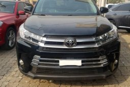 Foreign Used Toyota Highlander 2019 Model Black