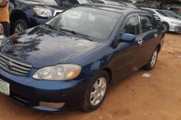 Nigeria Used Toyota Corolla 2004 Model Blue