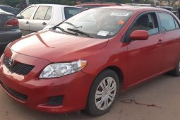 Nigeria Used Toyota Corolla 2009 Model Red