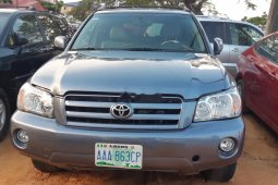 Nigeria Used Toyota Highlander 2007 Model Blue