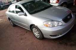 Foreign Used 2005 Silver Toyota Corolla for sale in Lagos.
