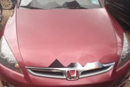 Foreign Used 2006 Red Honda Accord for sale in Lagos.