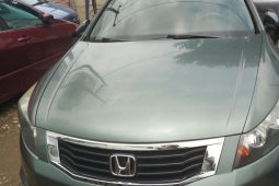 Foreign Used 2008 Green Honda Accord for sale in Lagos.