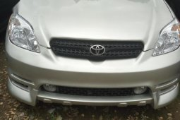 Foreign Used 2003 Silver Toyota Matrix for sale in Lagos.