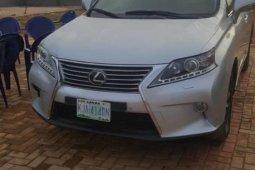 Nigeria Used Lexus RX 2013 Model Silver