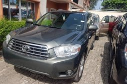 Tokunbo Toyota Highlander 2010 Model Gray