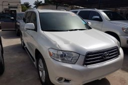 Foreign Used Toyota Highlander 2010 Model White