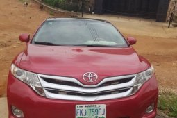 Nigeria Used Toyota Venza 2010 Model Red
