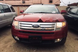 Foreign Used Ford Edge 2008 Model Red