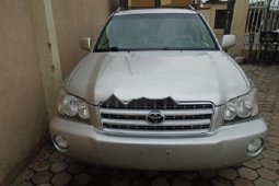 Foreign Used Toyota Highlander 2003 Model Silver