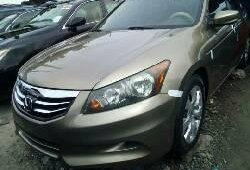Foreign Used 2008 Gold Honda Accord for sale in Lagos.