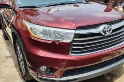 Foreign Used Toyota Highlander 2014 Model Red