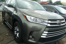 Foreign Used Toyota Highlander 2018 Model Gray