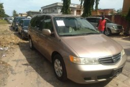 Foreign Used Honda Odyssey 2003 Model Gold