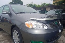 Foreign Used 2007 Grey Toyota Corolla for sale in Lagos.