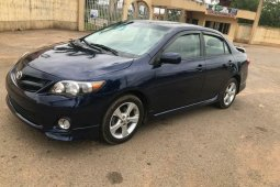 Foreign Used 2012 Dark Blue Toyota Corolla for sale