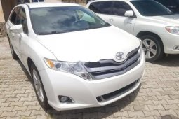 Foreign Used 2013 White Toyota Venza for sale in Lagos.