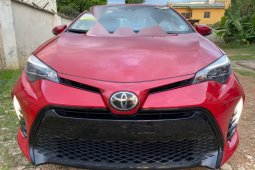 Foreign Used Toyota Corolla 2017 Model Red