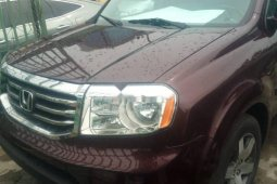 Foreign Used Honda Pilot 2013 Model Red
