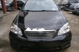 Foreign Used Toyota Corolla 2006 Model Black