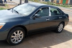 Nigeria Used Honda Accord 2006 Model Gray