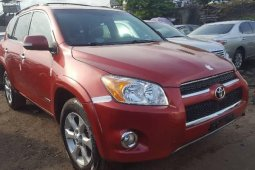 Foreign Used 2010 Red Toyota RAV4 for sale in Lagos.
