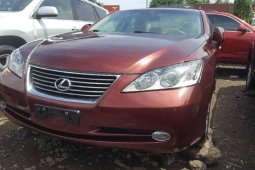 Foreign Used 2008 Maroon Lexus ES for sale in Lagos.