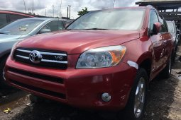 Foreign Used 2008 Red Toyota RAV4 for sale in Lagos.