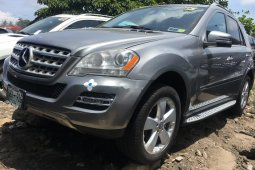 Foreign Used 2010 Grey Mercedes-Benz ML350 for sale in Lagos.