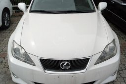 Foreign Used 2008 White Lexus IS for sale in Lagos.