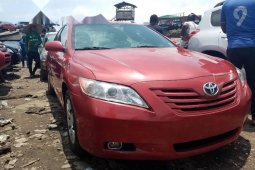 Foreign Used 2007 Red Toyota Camry for sale in Lagos.