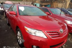 Foreign Used 2008 Red Toyota Camry for sale in Lagos.