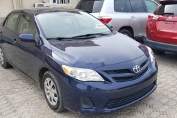 Foreign Used 2012 Blue Toyota Corolla for sale in Lagos.