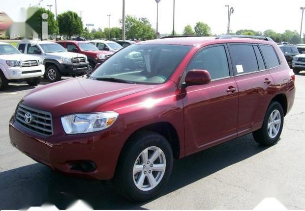 Foreign Used Toyota Highlander 2010 Sport Red-1