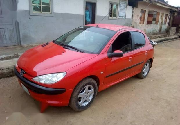 Neat Nigerian used Peugeot 206 2000 Red-3