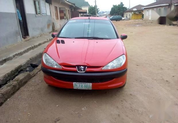 Neat Nigerian used Peugeot 206 2000 Red-1
