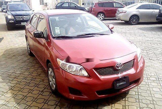 Nigeria Used Toyota Corolla 2009 Model Red-13