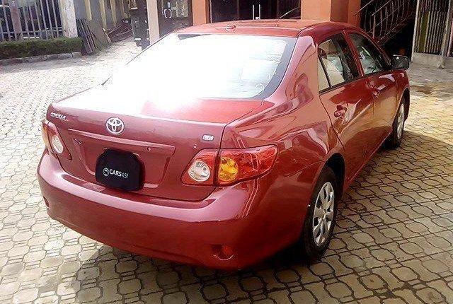 Nigeria Used Toyota Corolla 2009 Model Red-4