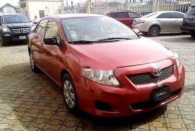 Nigeria Used Toyota Corolla 2009 Model Red-7