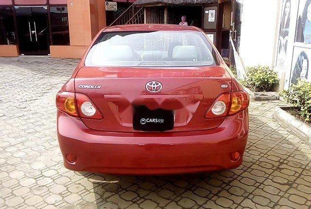 Nigeria Used Toyota Corolla 2009 Model Red-9